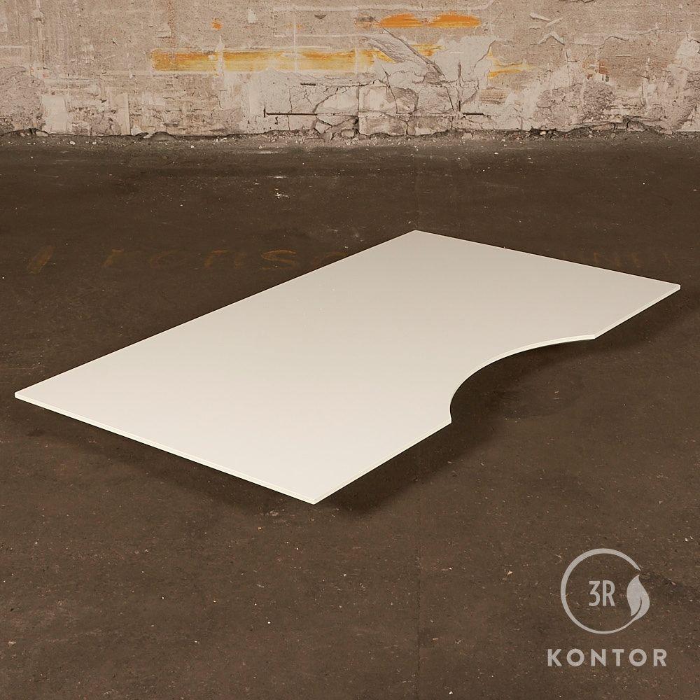 Bordplade - hvid laminat - centerbue - 160x90